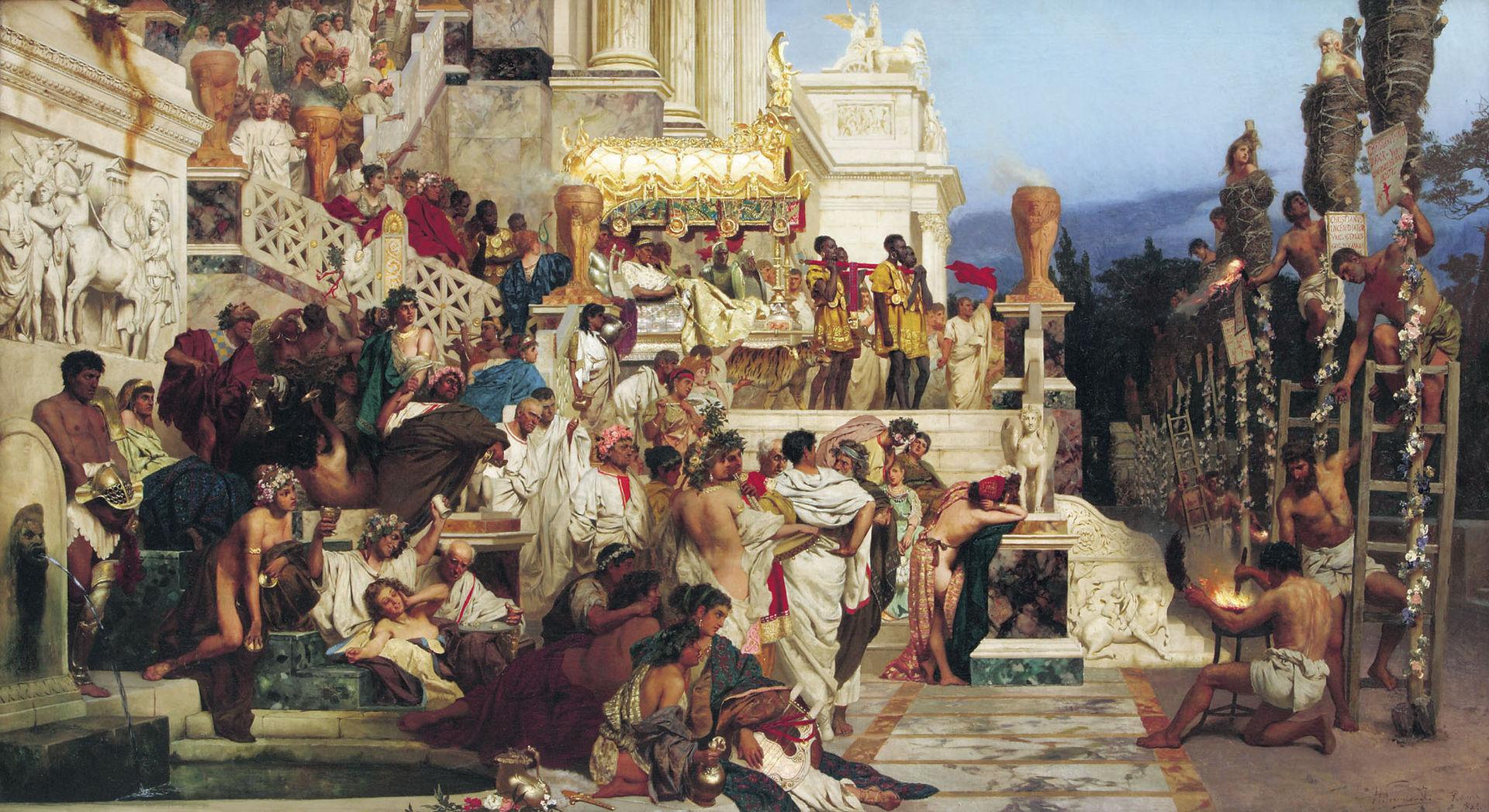 Nerone assiste al supplizio dei cristiani