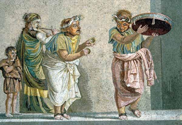 Musicisti da un mosaico rinvenuto a Pompei