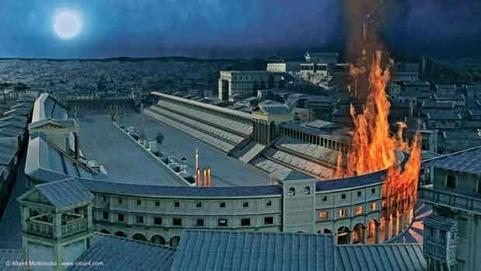 L'incendio si sviluppò al Circo Massimo