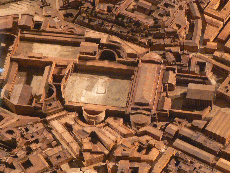 Ricostruzione virtuale del complesso dei Mercati di Traiano