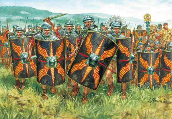 Legionari imperiali alla carica