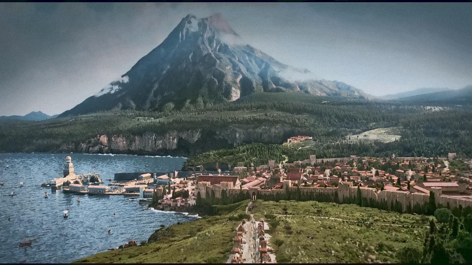 Ricostruzione virtuale di come poteva apparire Pompei prima dell'eruzione.