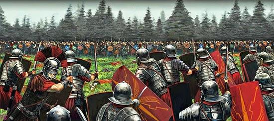 Legionari romani in attesa dello scontro