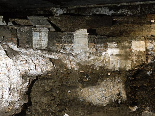 La fonte di Anna Perenna, rinvenuta sotto il quartiere dei Parioli a Roma.