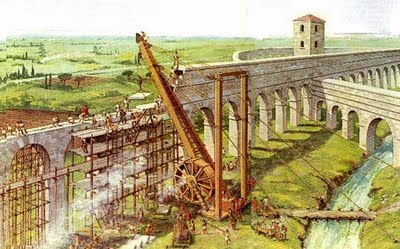 La costruzione di un Acquedotto romano