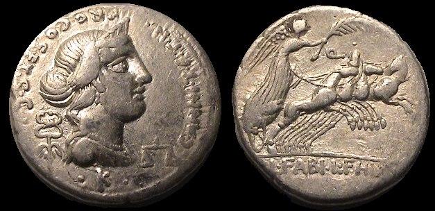 Anna Perenna raffigurata su moneta