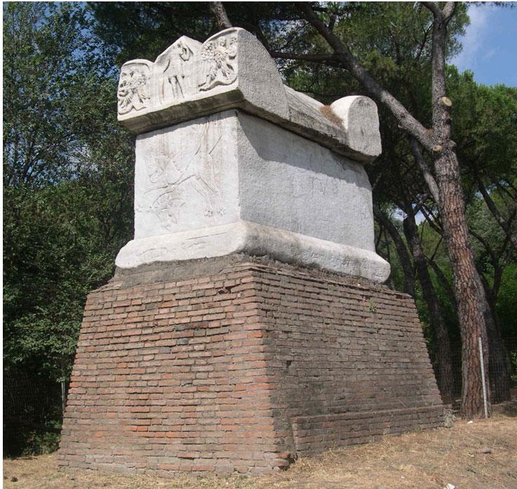 la cosiddetta Tomba di Nerone al decimo chilometro della via Cassia.