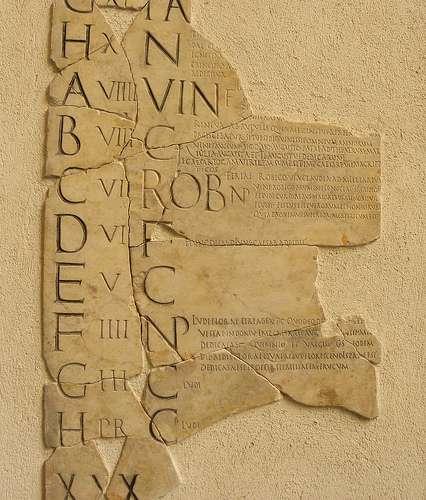 Frammenti di un calendario Romano.
