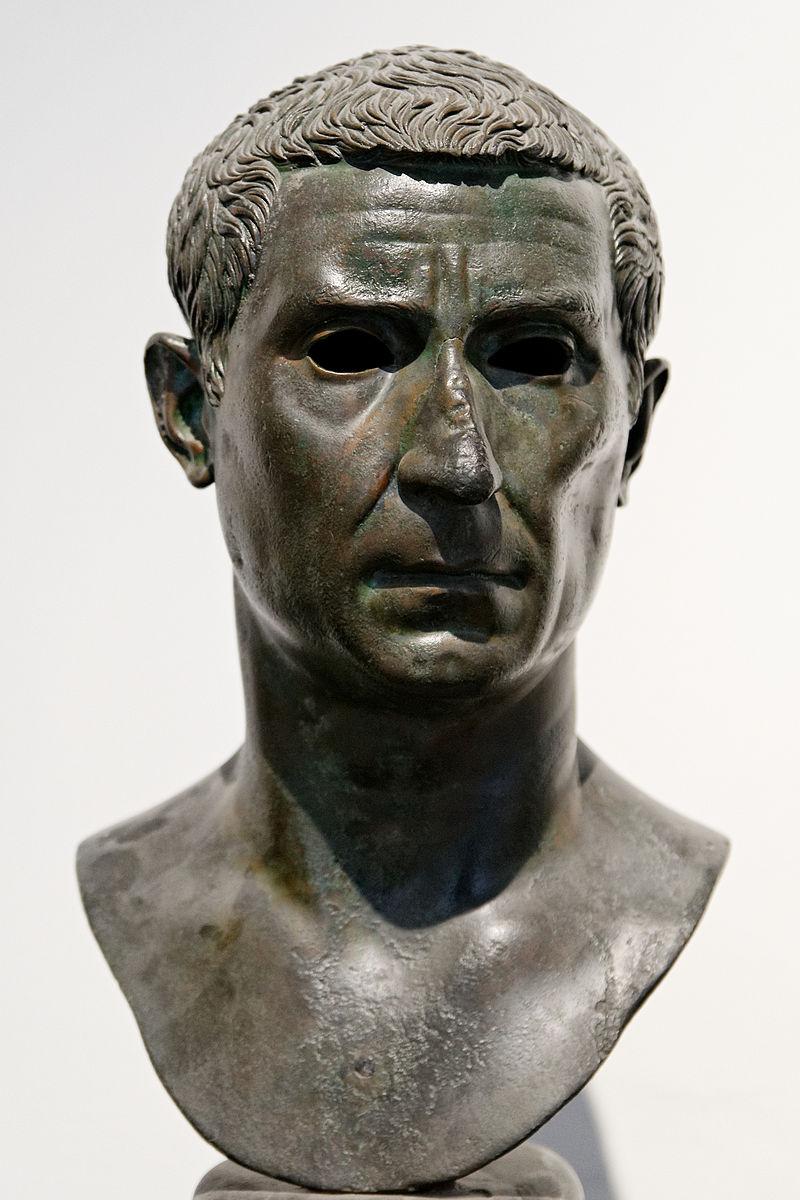 Busto di Lucio Calpurnio Pisone appartenuto alla gens Calpurnia.