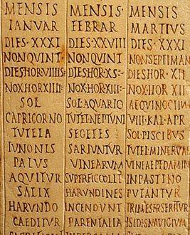 Il Calendario Giuliano.Calendario Giuliano Roma Eredi Di Un Impero