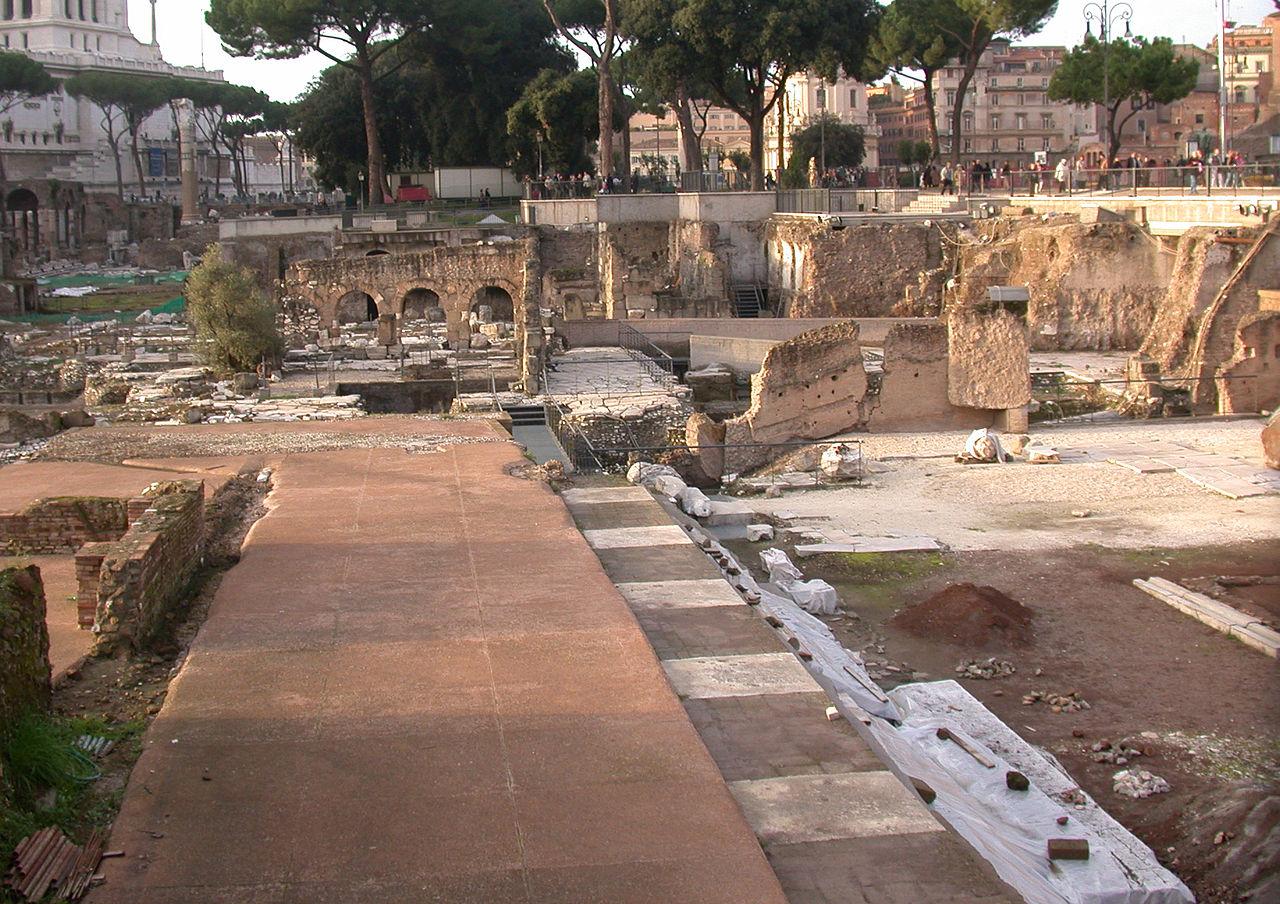 Quel che resta oggi del Tempio della Pace, all'interno del percorso archeologico dei Fori Imperiali.