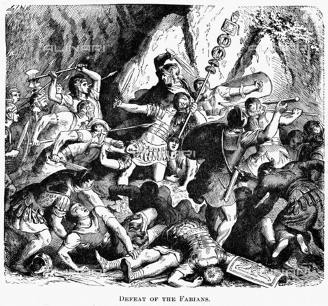 I Fabii sconfitti nella battaglia del fiume Cremera.