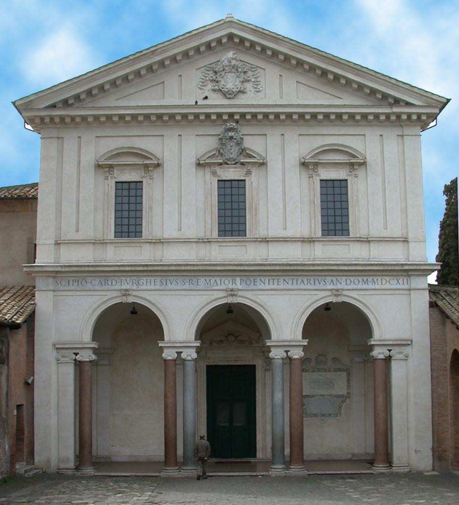 L'ingresso alle catacombe di San Sebastiano, situato lungo la via appia antica, a poca distanza dal Mausoleo di Cecilia Metella.