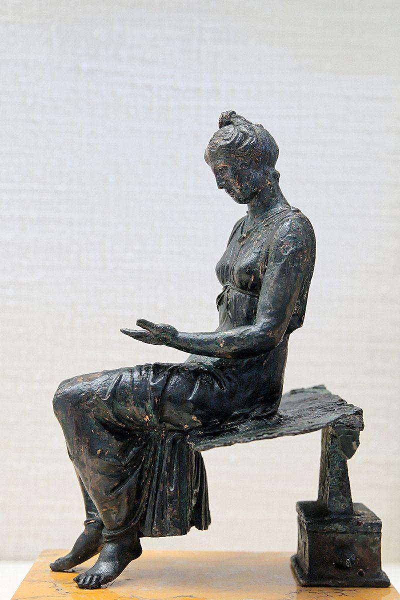 Giovinetta intenta alla lettura (bronzo del I sec.)