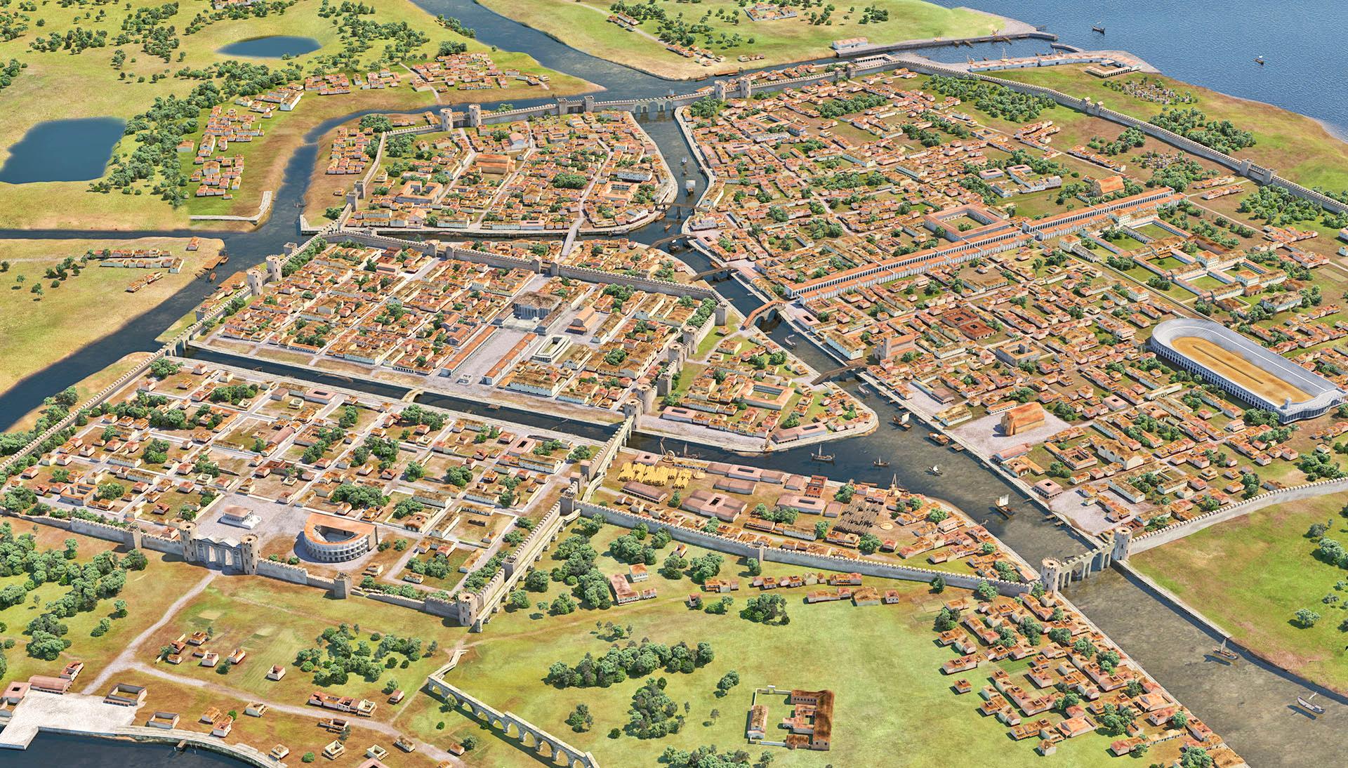 Ravenna come appariva ai tempi dell'Impero romano