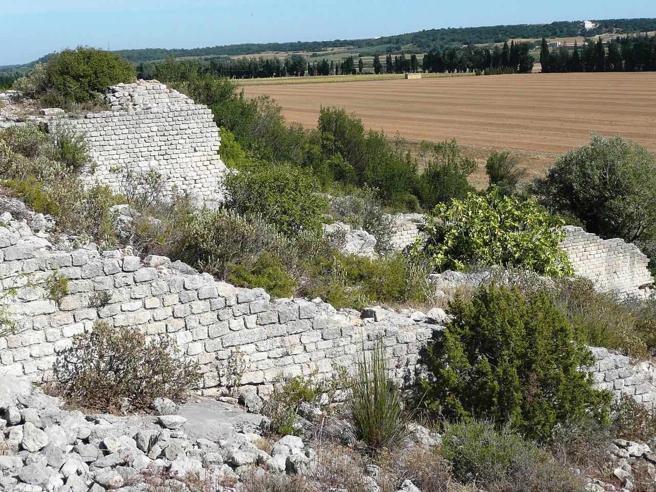 agricoltura e commercio, resti di un mulino romano nel sud della Francia