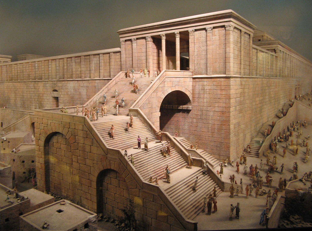 Il lato sud dell'antico tempio di Gerusalemme