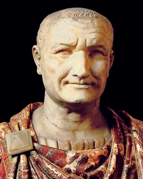 pecunia non olet, busto di Vespasiano