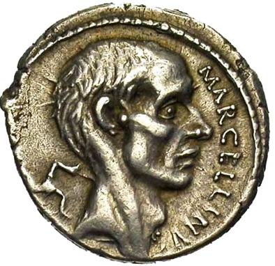 La Spada di Roma, moneta di Claudio Marcello